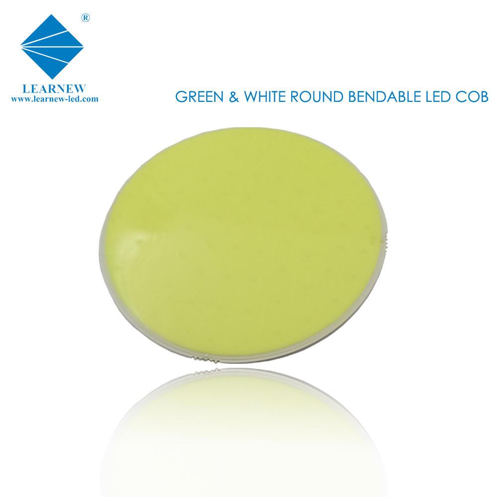 flip chip technology flexible view angle 9w R50mm size 3.0-3.4v green flexible led cob for led magic light