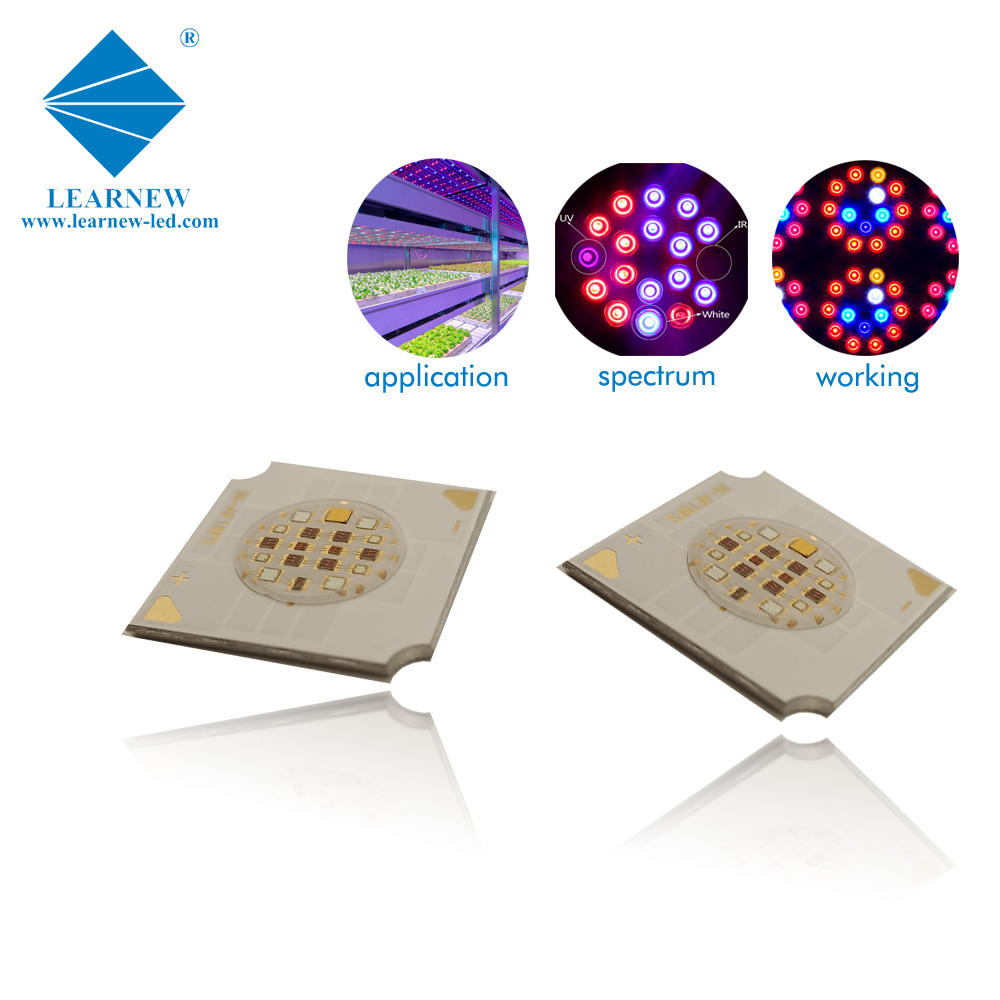 low thermal resistance multi wavelength 9watt grow led cob 473nm 530nm 3000k 630nm 665nm 735nm
