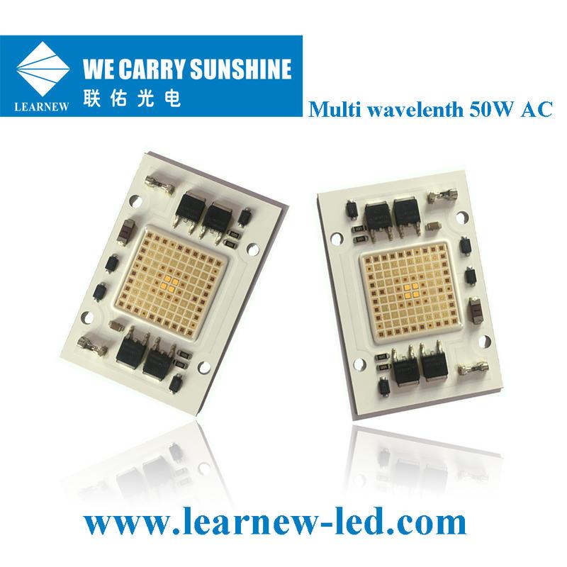 china supplier good quality 50W±2W grow led cob 473nm 530nm 3000k 630nm 665nm 735nm 40*60mm cob led chip